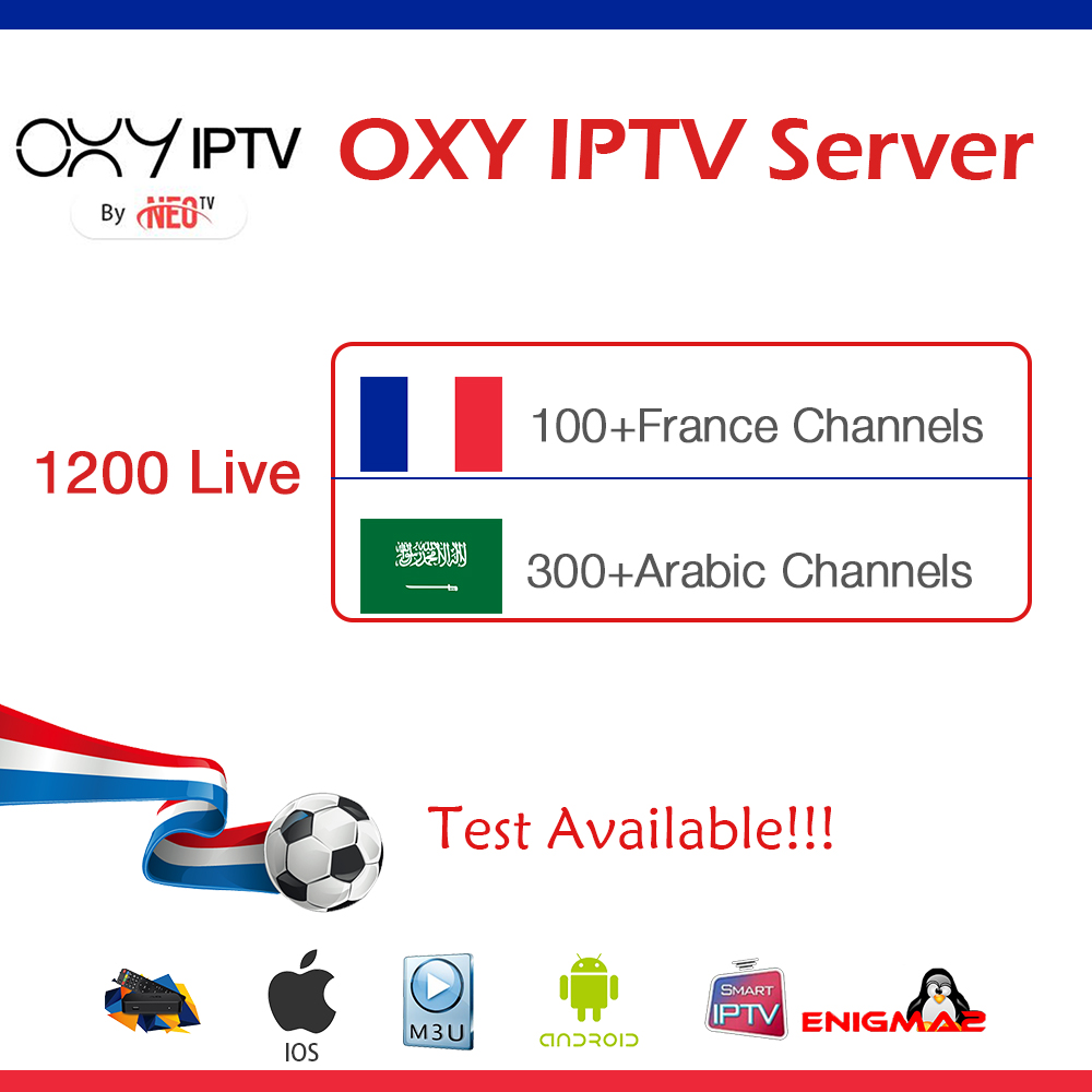 US $15 0 |New OXY French iptv Subscription code for France Belgium Arabic  football Support M3u Enigma2 Smart TV PC Android App PK SUBTV-in Set-top