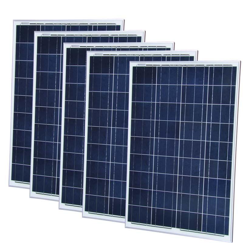 Painel Solar 12 v 100 w 5 Pcs Placa Sistema de Painéis Solares 500 W Carregador de Bateria Solar China Photovaltic Marinhos iate Barco Motorhome