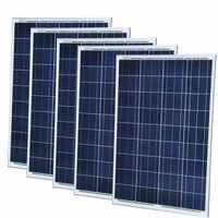 Solar Panel 12v 100w 5 Pcs Placa Solar 500W Solar Batterie Ladegerät China Photovaltic Panels System Marine yacht Boot Wohnmobil