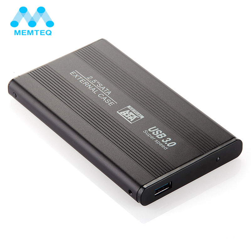 MEMTEQ New HDD Box USB 3.0 2.5 inch SATA External Hard Drive Mobile Disk HD Enclosure Case Box for Tablets PC Laptop