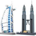 Wange 1642pcs City Building Tower Educational Toy World's Great Architecture Large Building Blocks Set Compatible with Bricks