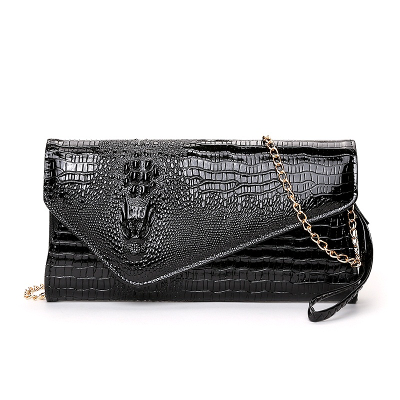 c5af545f9cff WERLO Brand Women Handbags Alligator Leather Shoulder Bag Fashion Ladies  Big Day Clutches Crossbody Messenger Bags Evening Bags -in Clutches from  Luggage ...