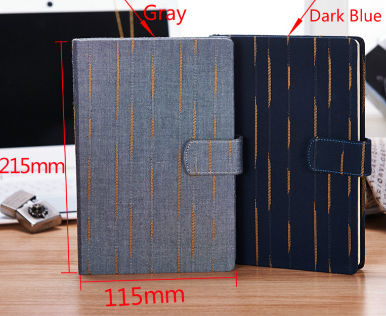 2017 External mounting knitted cloth business notebook diary creative Notepad with button diary diary