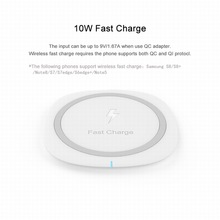 Portefeuille Fast Wireless Charger Charge QI Wireless charging pad for Samsung Galaxy S8 Plus S7 Edge S6 iPhone 8 X Carregador