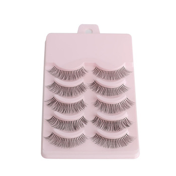 5 Pairs/set Natural Sparse Cross Eye Lashes Extension Makeup Long False Eyelashes Makeup Beauty Tools Accessories False Eyelashes