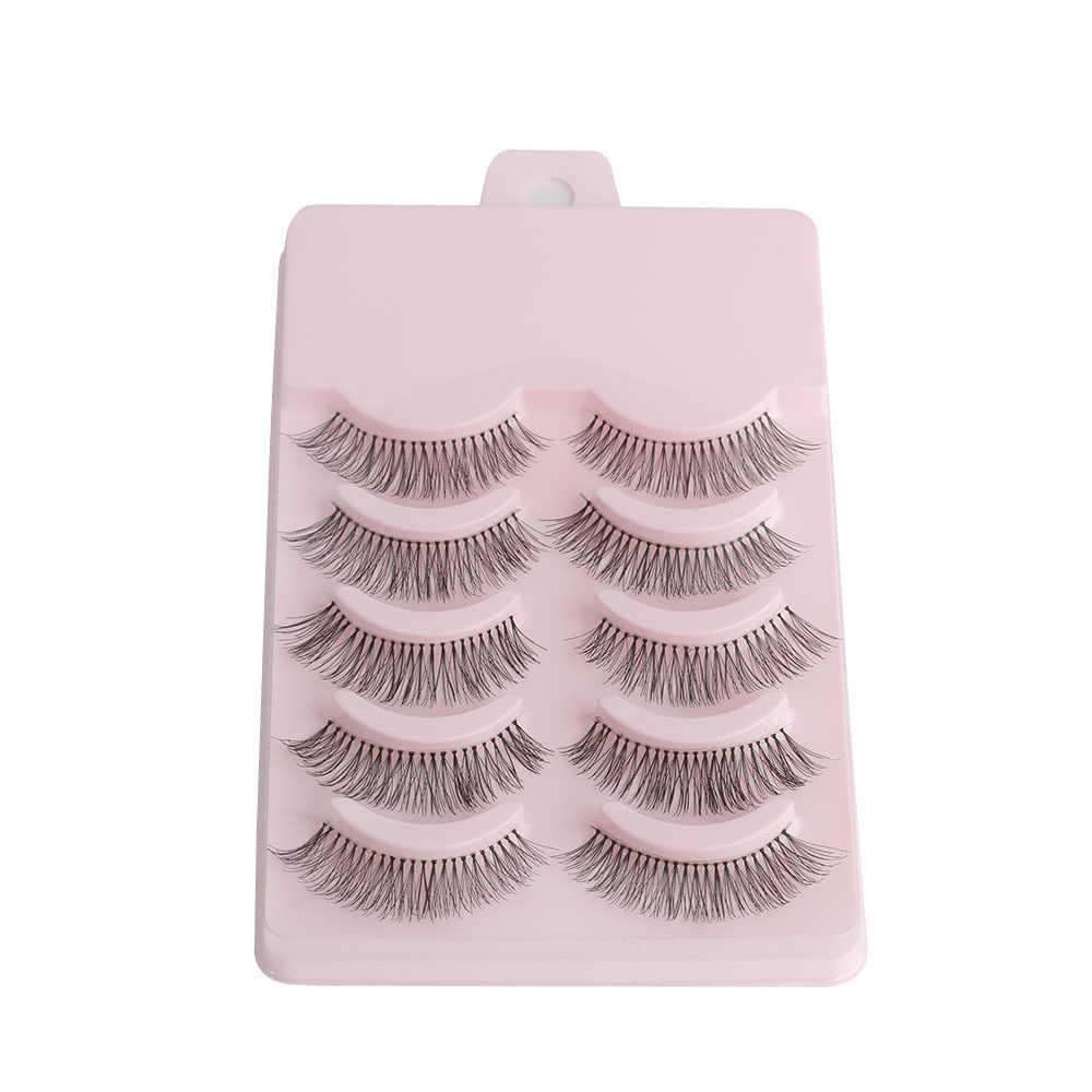 5 Pairs/set Natural Sparse Cross Eye Lashes Extension Makeup Long False Eyelashes Makeup Beauty Tools Accessories