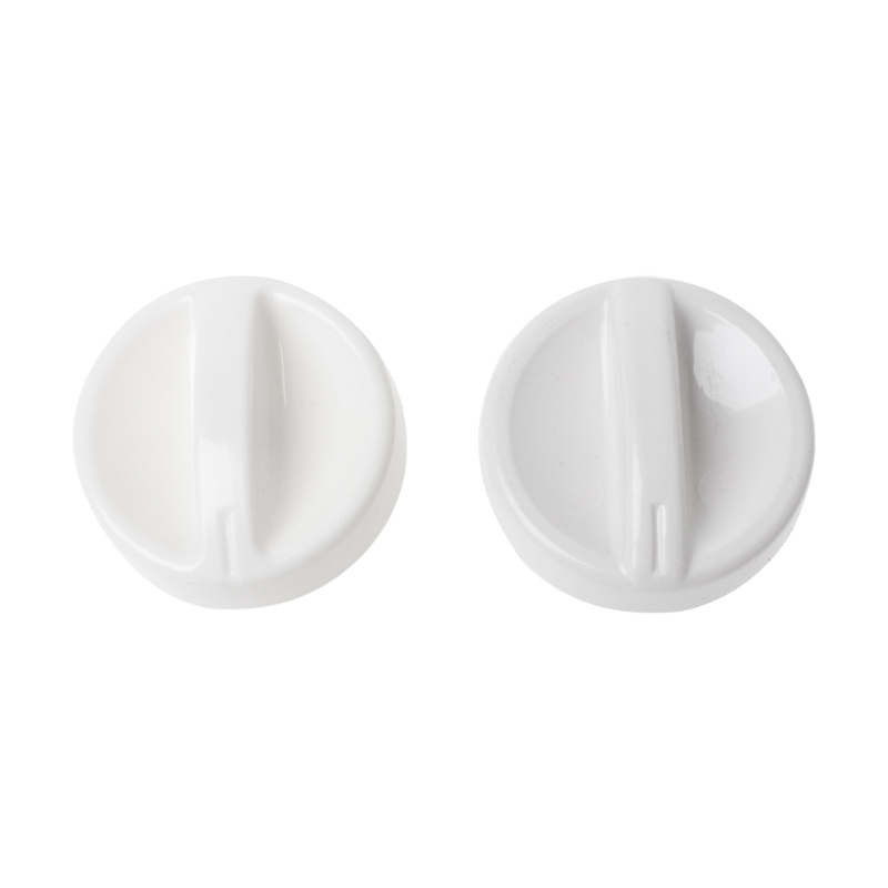 2Pcs Universal Microwave Oven Plastic Spool Rotary Knob Timer Control Switch New