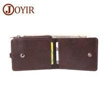 JOYIR Genuine Leather Mens Wallet Credit Card Holder Coin Purse Vintage Crzay Horse Driver License RFID