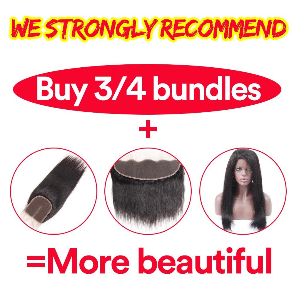 Bulu Rambut Brazil Lurus Sambungan Rambut Manusia 1 Bundle Deals - Rambut manusia (untuk hitam) - Foto 4