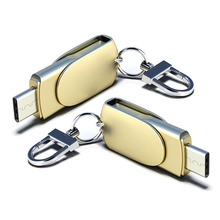 Metal USB Flash C Type Drive OTG For Adapter Cable Phone Pen Type-C 128GB 16G 64G 32G Disk Pendrive