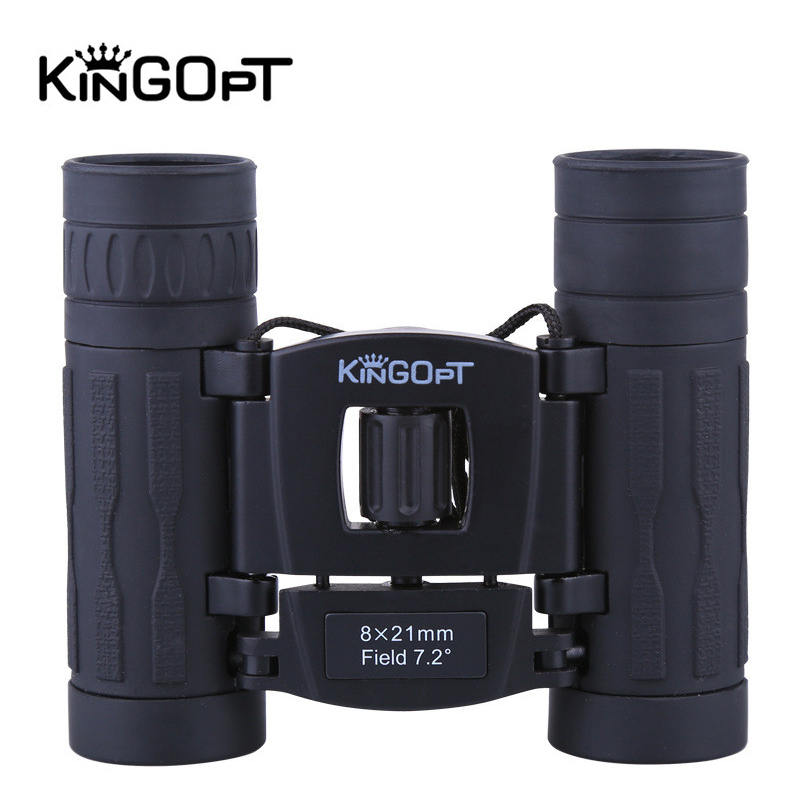 Jumelles KINGOPT 8x21 Mini HD FMC Film bleu haute puissance télescopes binoculaires randonnée en plein air Camping outils d'observation des oiseaux
