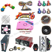 DIY Arcade parts Bundles Kit with 1300 in 1 multi game board Joystick switching power supply Buttons To Build Up Arcade Machine arcade parts bundles with pandora box 4s 815 in 1 arcade game board 16a power supply long shaft joystick buttons jamma harness