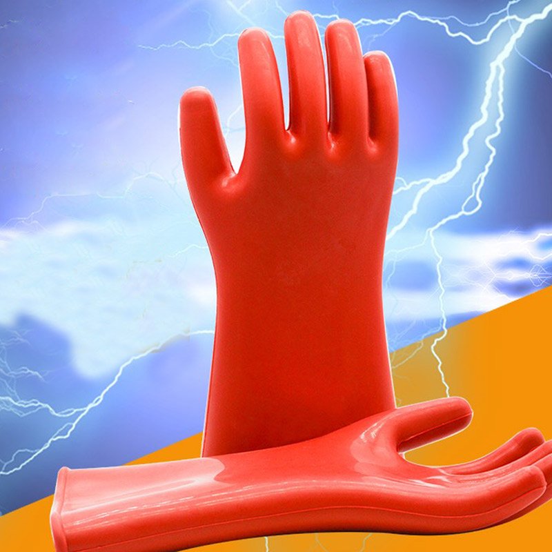 Insulation Gloves 12KV/20KV/25KV/35 KV Anti-electric Labor Safety Leakage Prevention Rubber Gloves Electrician Insulating Glove