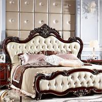 American wood bed bed European classical American country style furniture double bed 1.8 m 10314