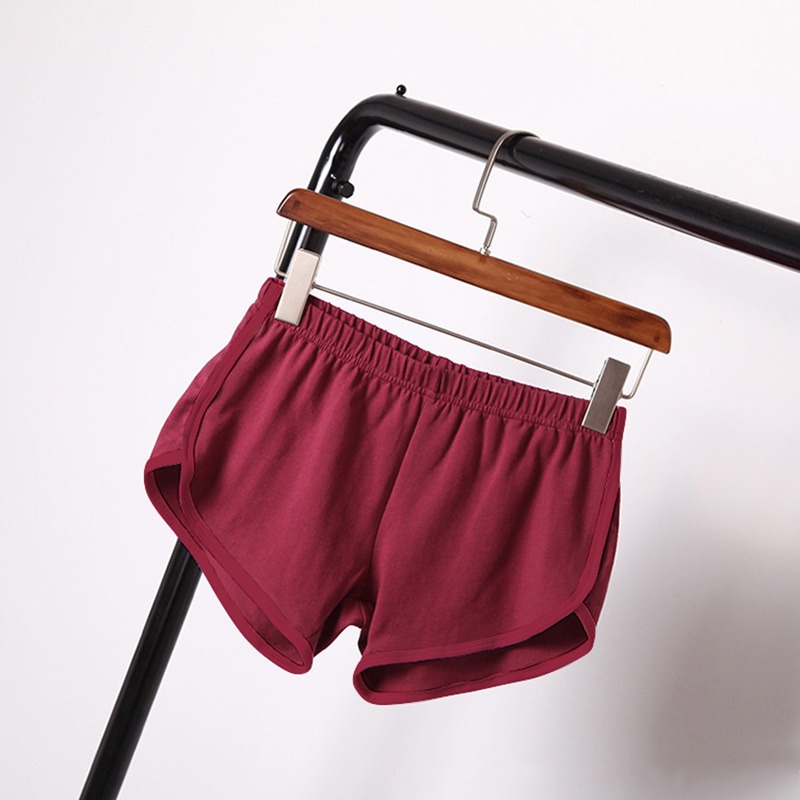 Spring Summer   Shorts   Women Candy Color Elastic Waist Mini   Short   Pants Casual Cotton Blend   Shorts   Plus Size For Lady