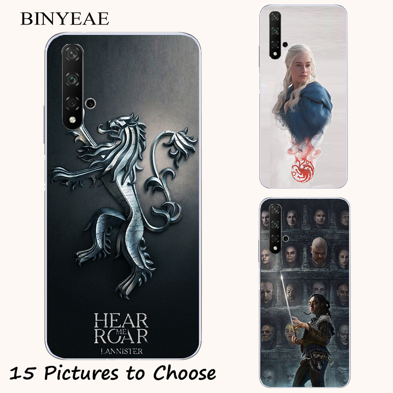 GOT Game Of Throne Stark Painting Case For Huawei Honor Play 9X 7X 8S 9i 10i 20i 20 Lite Nova 5i 5T 5 Pro Phone Printed Cover