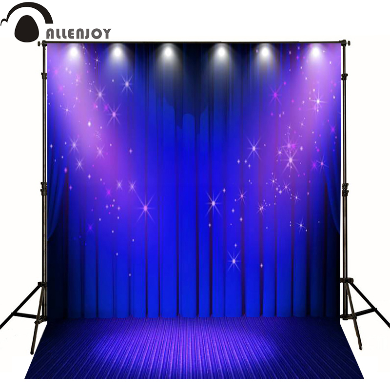 Allenjoy photographic background Shine purple stage curtain photo backdrops for sale Computer printing photocall fotografie