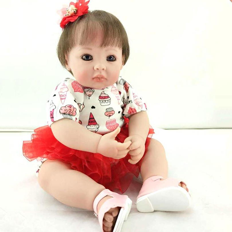 Babies Reborn Cotton Body Dolls Play Toy Girl Dolls 50cm Soft Reborn Baby Lovely Brinquedos Cute Collection Doll Baby Silicona
