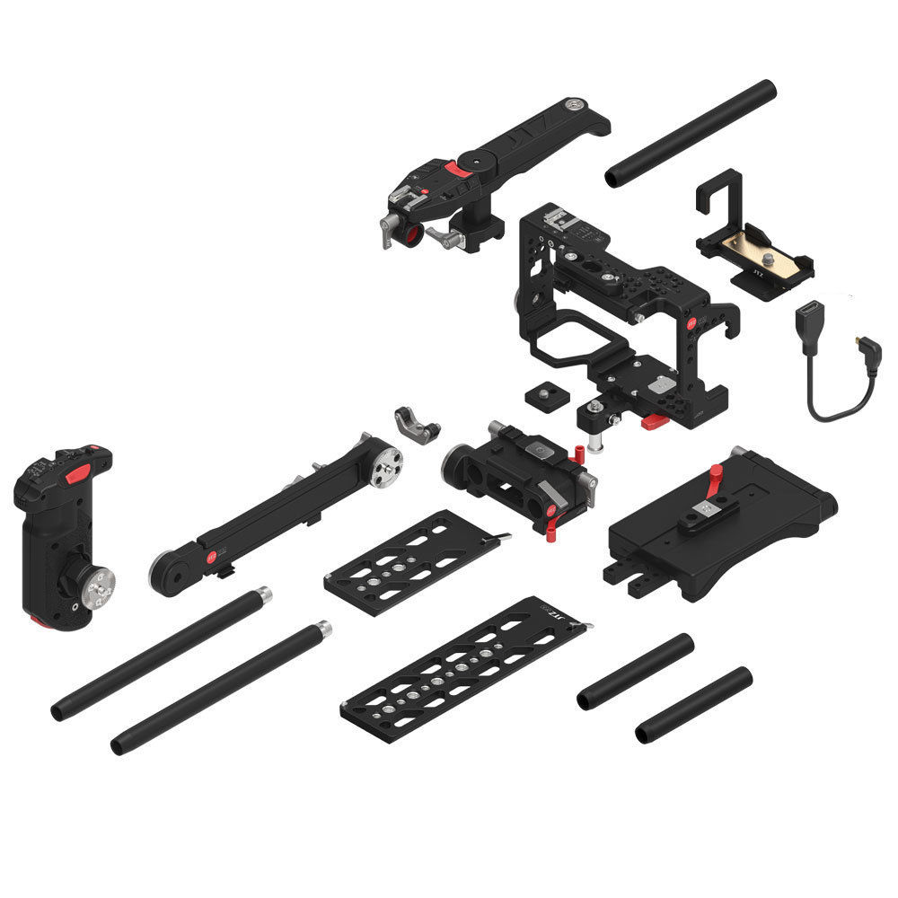 JTZ-DP30-Camera-Cage-Baseplate-Rig-Grip-KIT-for-SONY-Alpha-A6000-A6300-A6500-a5100-a5000 (5)
