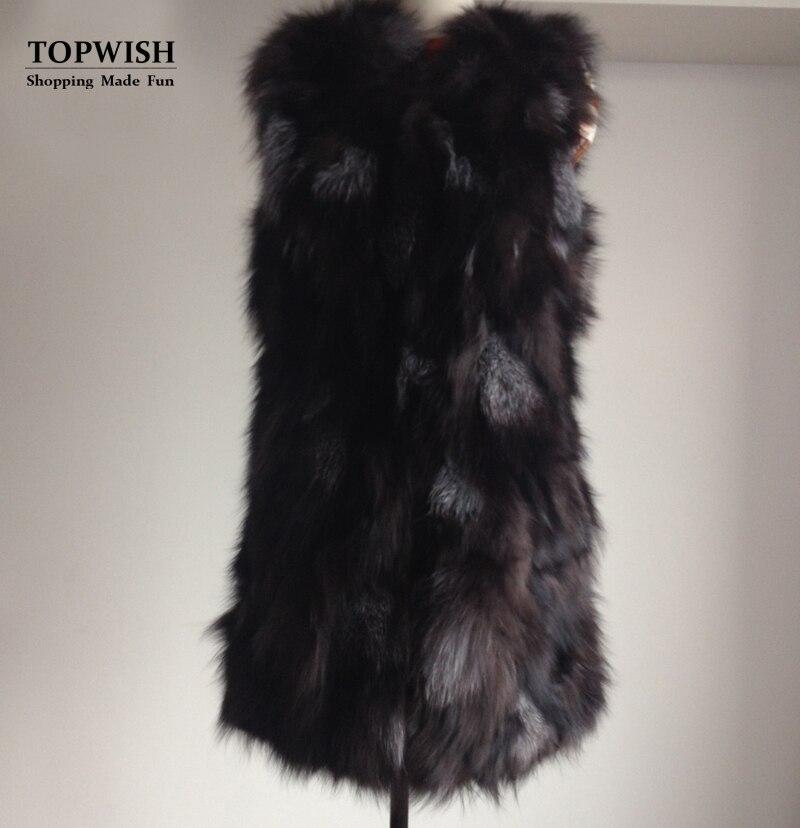 100 Short long Length Femmes Naturel Nouvelle Pur Arrivée Renard Fourrure Réel Gilet 69cm Haute Couture 79cm Tfp625 De Long Longue UnZFwanxP