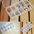 10 Slot Hot Sale Best Organizer Storage Beads Box Plastic Jewelry Adjustable Tool Bins Jewelry Packaging Box