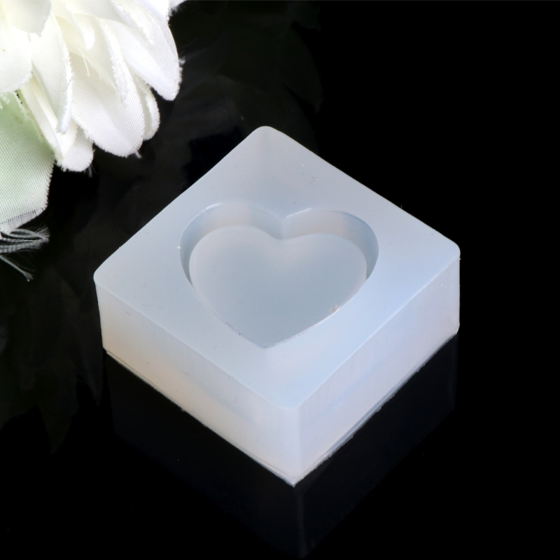 JAVRICK Jewelry Mold Heart Shapes Making Pendant Silicone Resin For Cake DIY Craft Tools