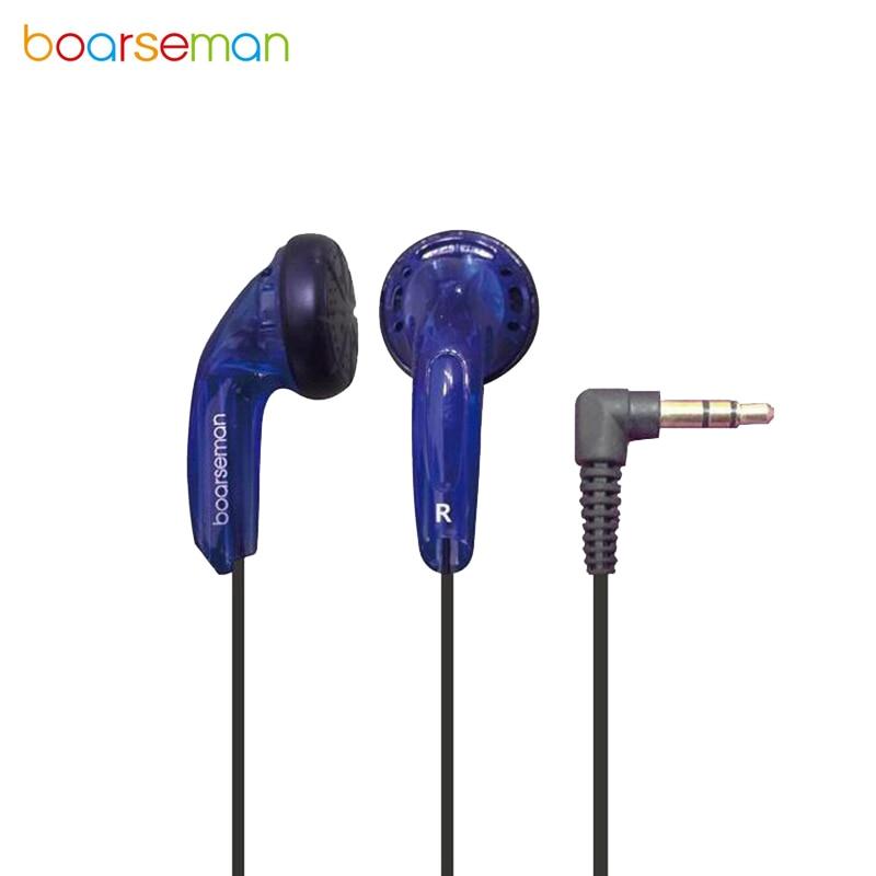 High Qaulity Boarseman K25 Earphone 3.5MM In Ear Earbuds Flat Bending Head Earbuds HIFI Headset Dynamic Earphones For Phone