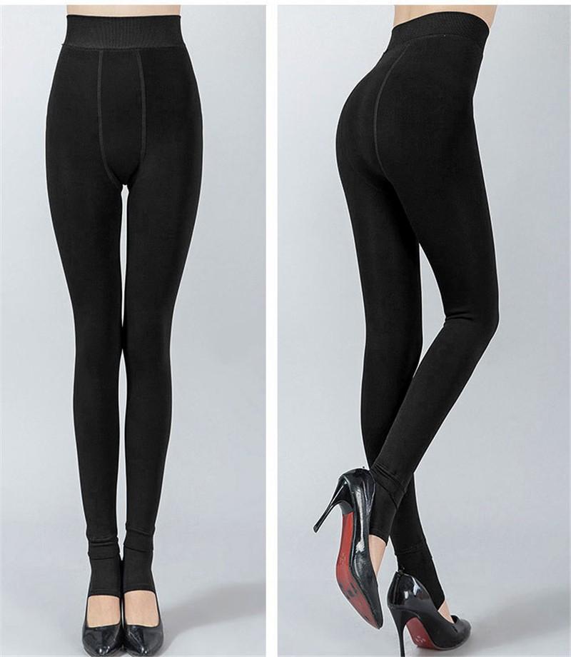NORMOV Women's Winter Plus Cashmere Leggings Fashion Big Size Warm Super Elastic Faux Velvet Winter Thick Slim Leggings 17