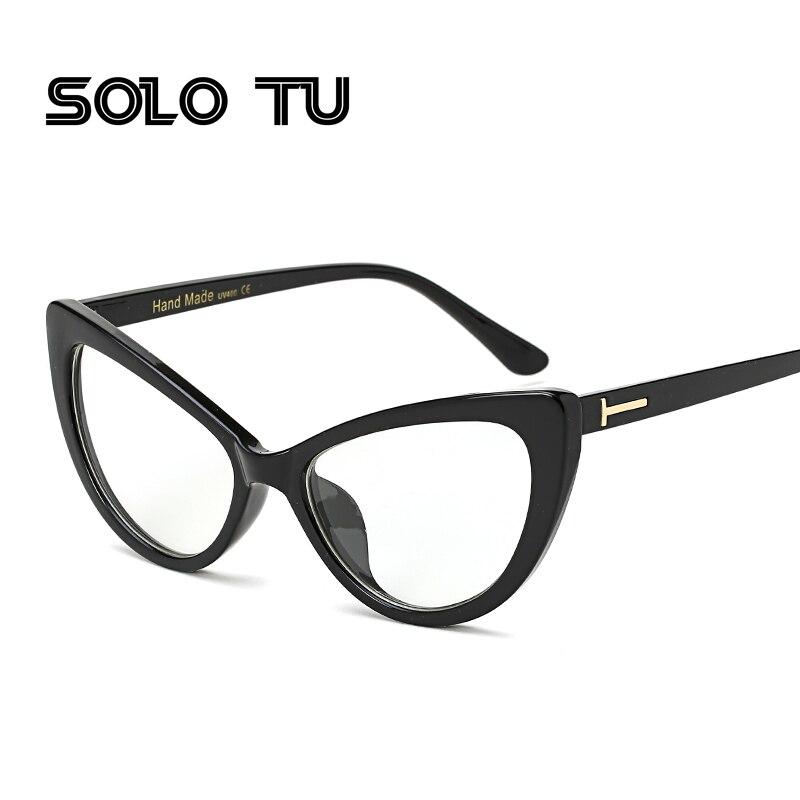 2017 neue Cat Eye Brillen Rahmen Für Frauen Sexy Männer Nerd Brille ...