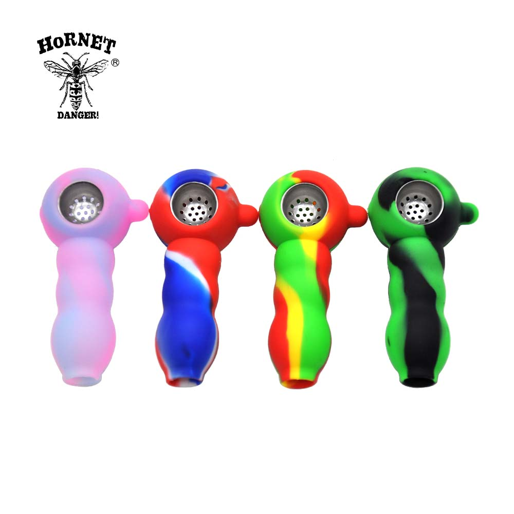 Portable Silicone Tobacco Pipes Jamaica Smoking Pipes & Glass Water Pipes Pipas Para Fumar Smoking Accessories