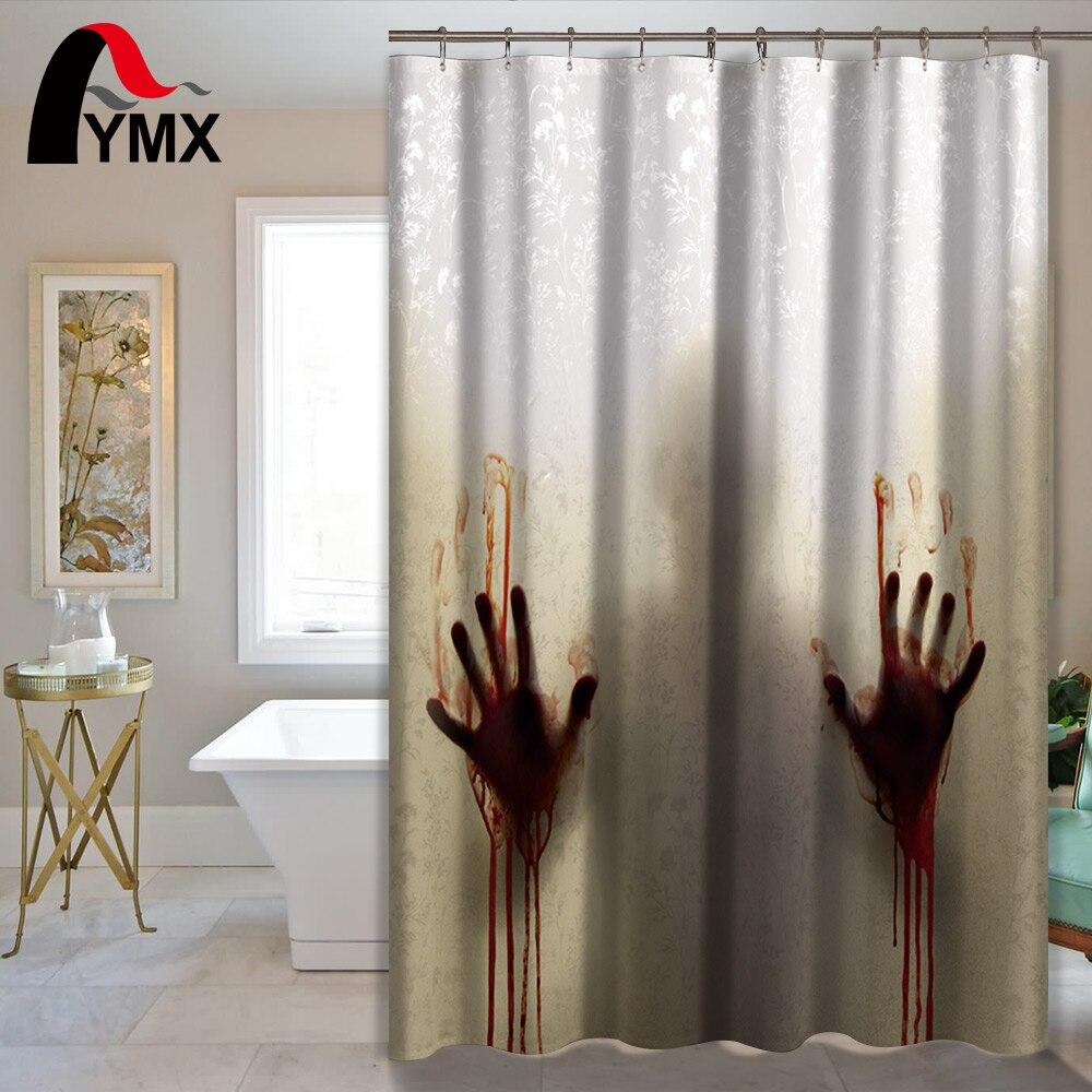 Horror Waterproof Shower Curtain Bathroom Curtain