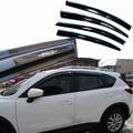 4pcs Windows Vent Visors Rain Guard Dark Sun Shield Deflectors For Mazda CX-5 2014