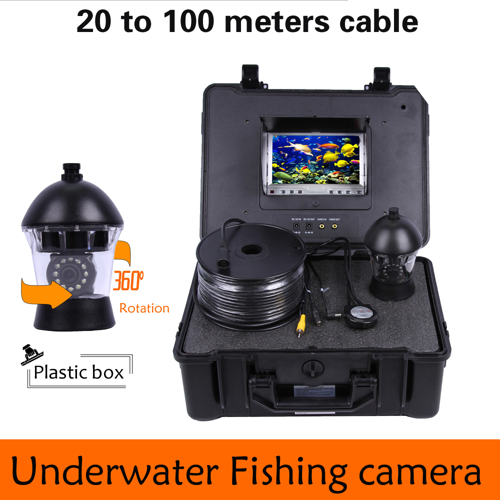20 to 100m Cable 360 Degree Rotation camera with 7inch TFT-LCD Display and HD 1000 TVL line Underwater Fishing Camera system 1 set 50m cable 360 degree rotative camera with 7inch tft lcd display and hd 1000 tvl line underwater fishing camera system