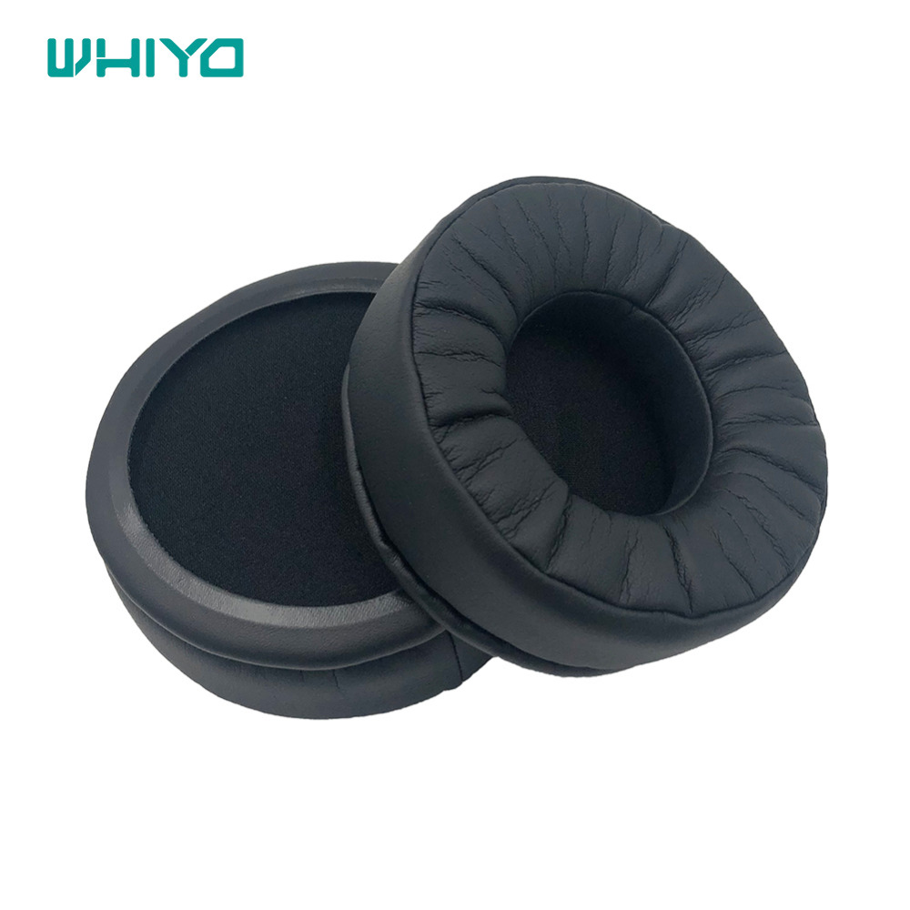 Whiyo <font><b>95mm</b></font> Protein Leather Memory Foam Earpads Cushion <font><b>Replacement</b></font> <font><b>Ear</b></font> <font><b>Pads</b></font> for Audio-Technica ATH-M50X ATH-M50 Headphones image