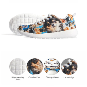 Image 4 - 2019 Fashion Childrens Shoes Sneakers for Children Boys Girl Pretty Sonic the Hedgehog Kids Casual Flats Breath Lace up Shoes
