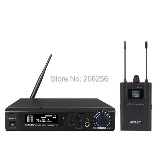 top quality 100 meter long working distance professional wireless in ear monitor system acemic. Black Bedroom Furniture Sets. Home Design Ideas