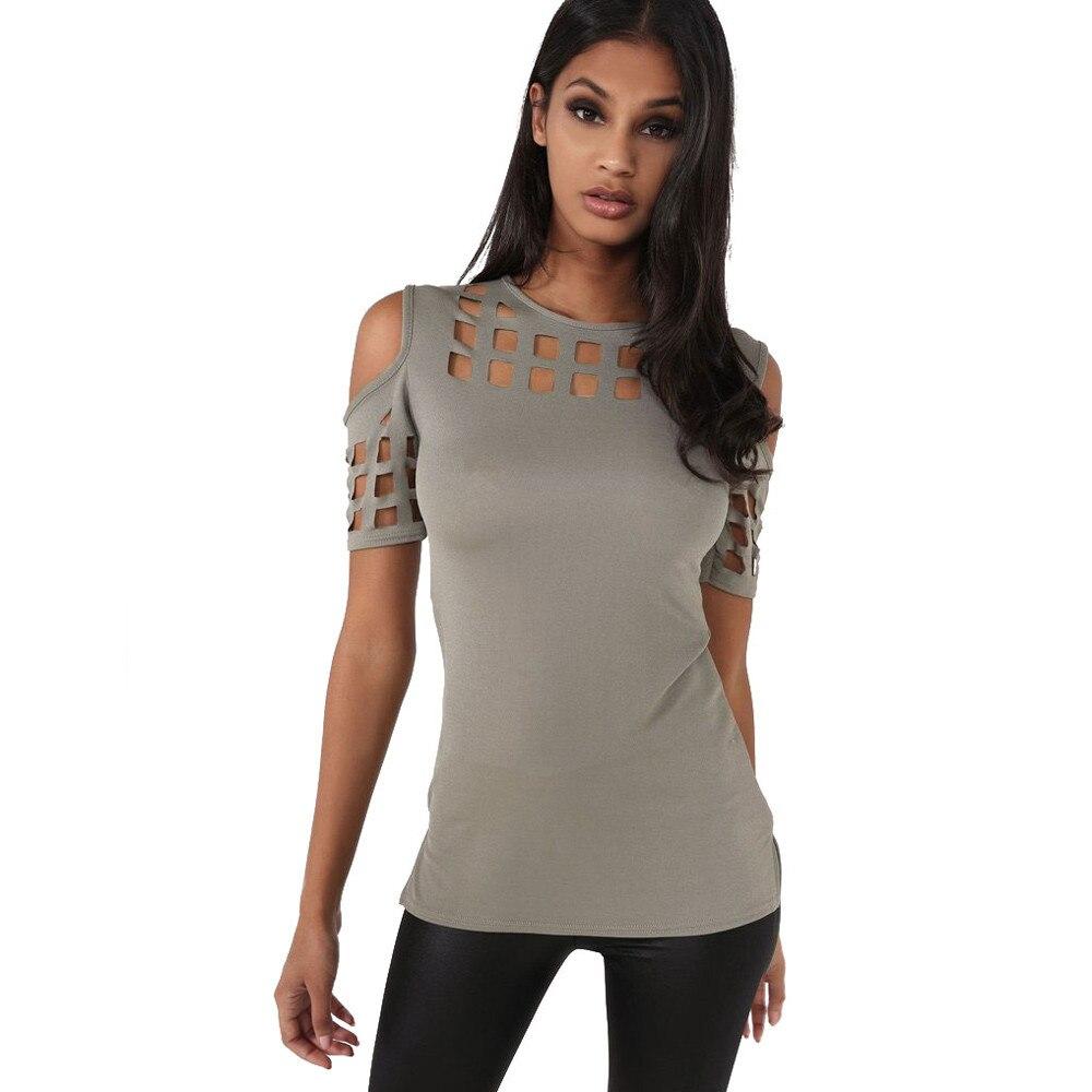 HTB1xzoDOFXXXXboapXXq6xXFXXXG - T-shirts Women Fashion Off The Shoulder Hollow Out Short Sleeve