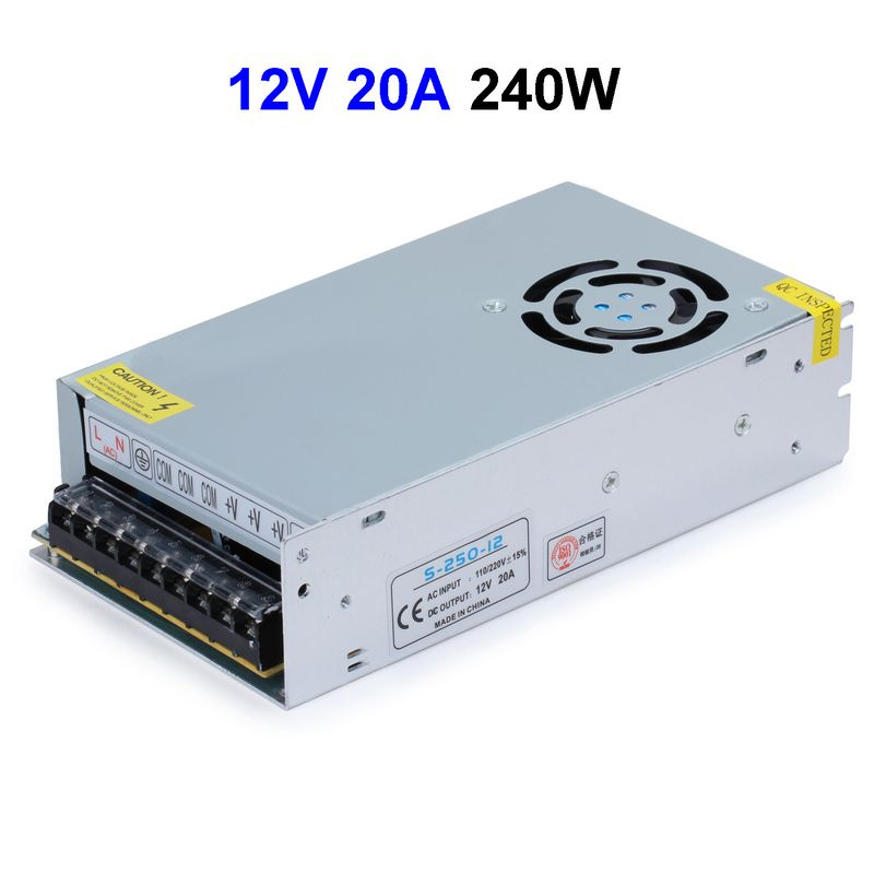 10pcs LED Display LCD Monitor DC12V 20A 240W Switching Power Supply Transformer For CCTV Security Cameras lp116wh2 m116nwr1 ltn116at02 n116bge lb1 b116xw03 v 0 n116bge l41 n116bge lb1 ltn116at04 claa116wa03a b116xw01slim lcd