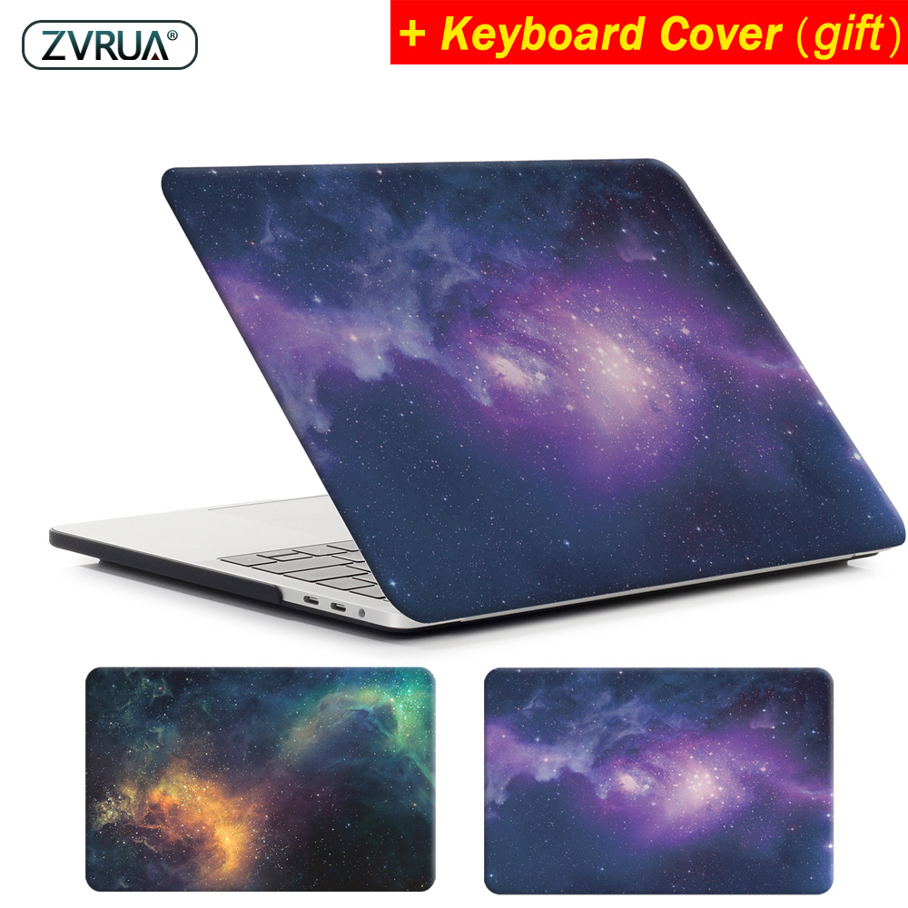 ZVRUA STAR laptop Case voor MacBook Air 11 13 inch voor APPLE Mac Pro met Retina 12 13.3 15 met Touch Bar Nieuw + toetsenbord cover