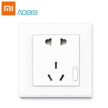New Arrival ! Original Xiaomi Aqara Mijia Smart Wall Socket Remote Control ZigBee Home Device Work For Xiaomi Smart Home Kits