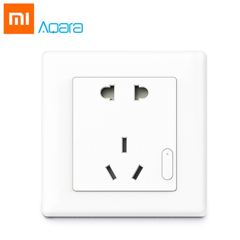 Originale Xiaomi Aqara Smart Presa A Muro Wifi A Distanza di Controllo Wireless ZigBee Interruttore Dispositivo di Casa di Lavoro Per Xiaomi Smart Home, Casa Intelligente Kit
