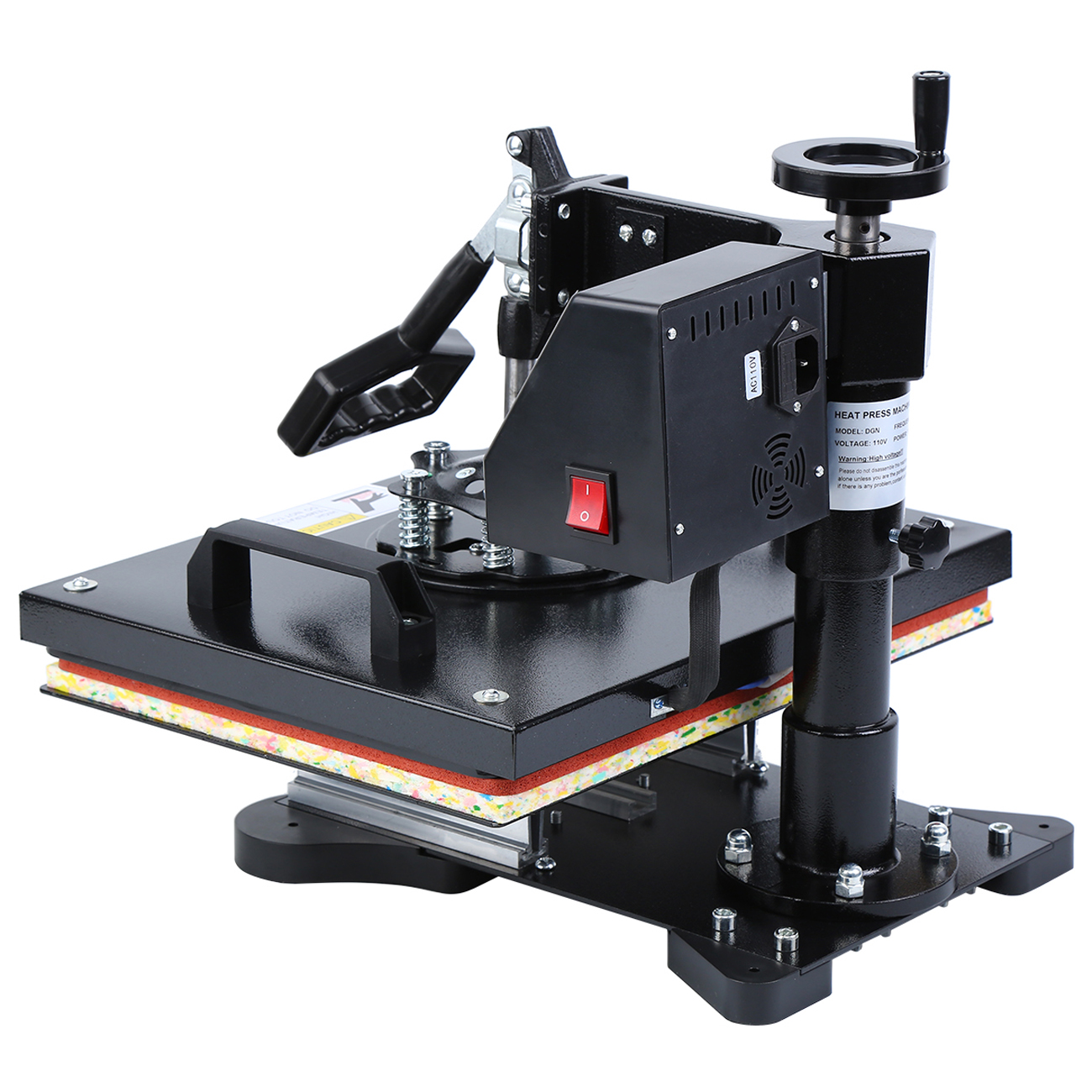 8 in 1 warmte persmachine sublimatie machine warmte overdracht machine voor T Shirt mok hoed plaat cap 12x15 inch - 5
