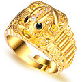 925 silver gold lucky toad ring transhipped personality male fashion openings
