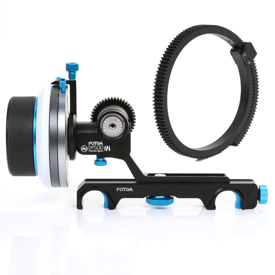 FOTGA DP500III QR A/B Hard Stops Follow Focus For 19mm Rod Rig A7R II BMPCC C300 C100 A7 GH4 GH5S GH6 REC BMPCC A7RMS A7RII FS5
