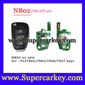 Free shipping (5pcs/Lot )Keydiy KD900 NB02 3 button remote key with NB-ATT-46 model for Renault ,Old Toareg.Cayenne etc