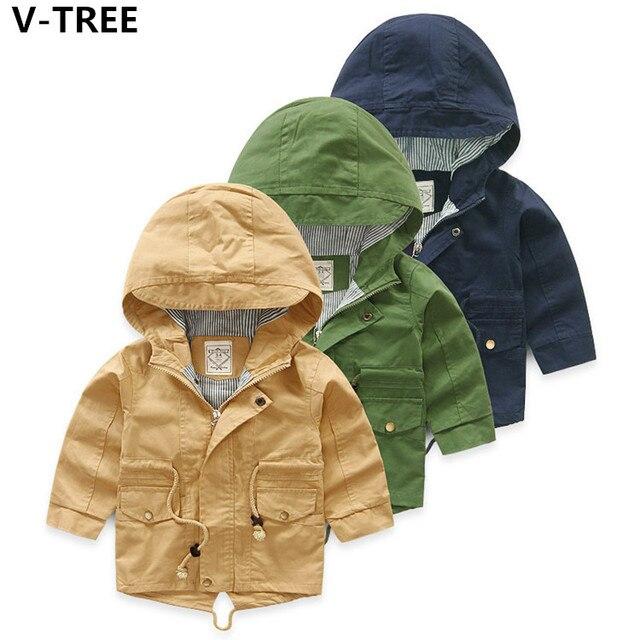 2017 בני מעילי בני תינוק ילדי מעילים עם ברדס מוצק מקרית מעילי סתיו פעוטות מעילי Outerwears