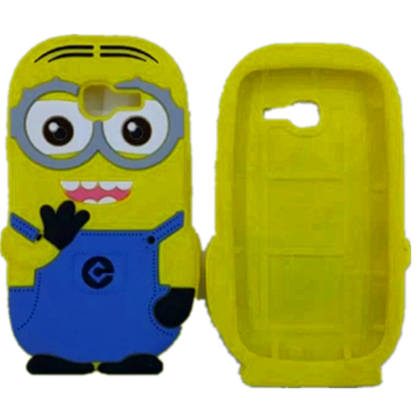 3D Cartoon Cute Yellow Minions Soft Silicone Back Case Covers Samsung Galaxy Trend Lite S7390 S7392 - Rose Angel store