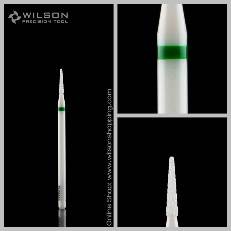 Small Conical-White Solid Ceramic(6300312) - WILSON Ceramic Nail Drill Bit&Zirconia Ceramic Dental Burs king double kgn a3t 3 zirconia ceramic peeling knife w sheath green white