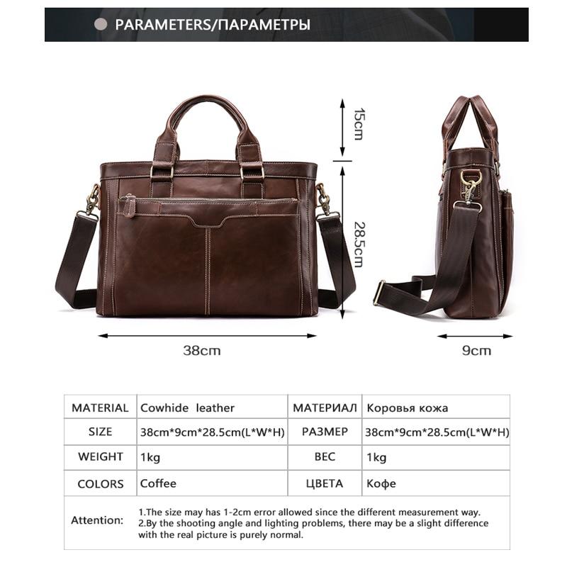 Bagaj ve Çantalar'ten Evrak Çantaları'de MVA Evrak Çantası Erkek Çanta omuz çantası erkekler Hakiki Deri erkek iş dizüstü Çanta Erkekler Belgeler için Çantası Erkek Çantası 8525'da  Grup 2