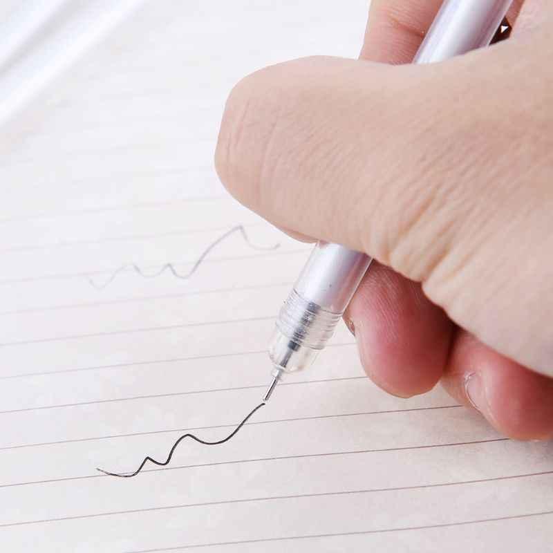 Гелевая ручка с 0,5 мм точка заправляемая ручка цепи Декор черные чернила блестящие Клевер украшения канцелярские принадлежности для школы комплект подарок
